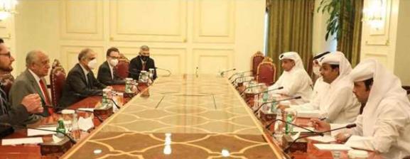 د سولې مذاکرات؛ امریکا له قطر سره پر افغان سوله خبرې اترې کړې دي.